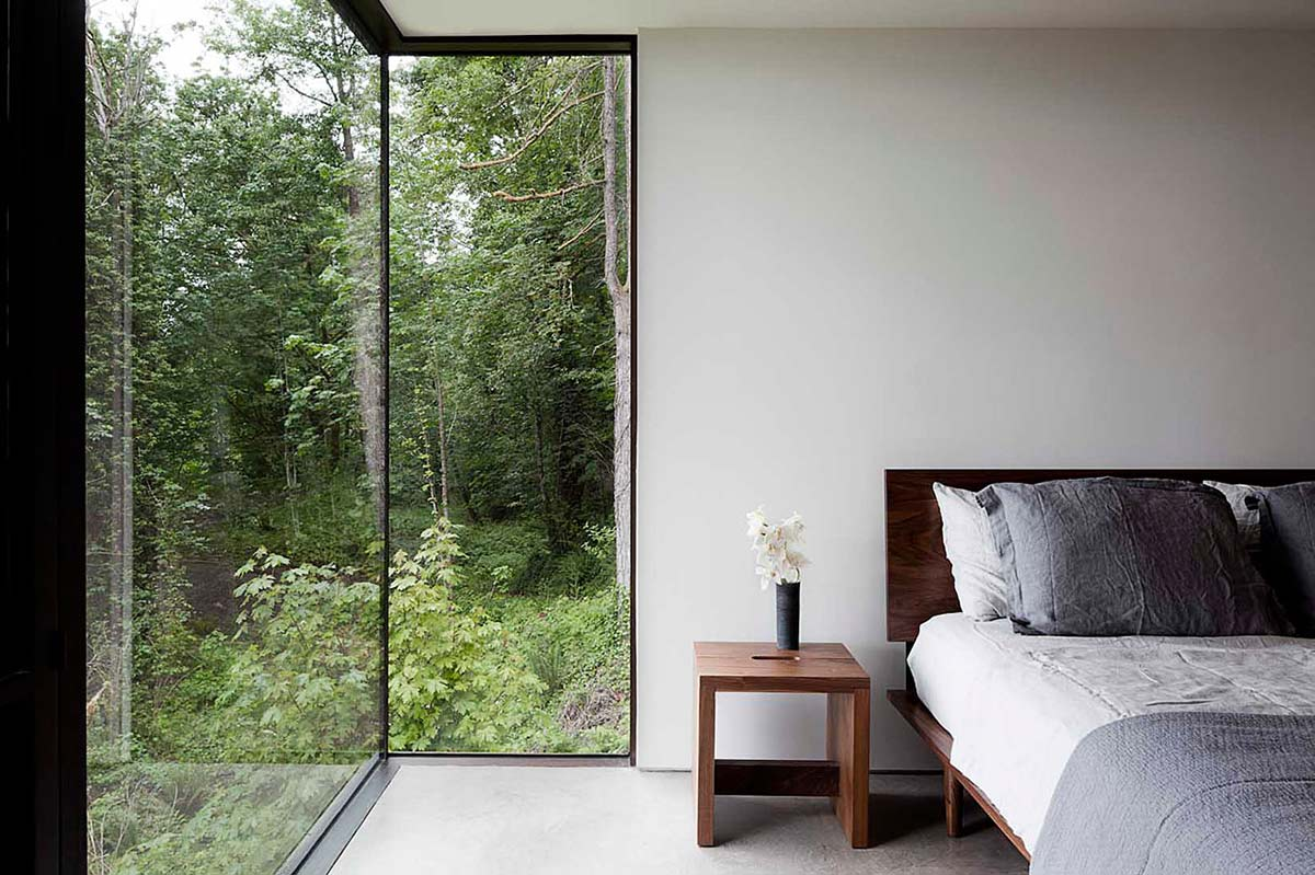 Bedroom, Glass Walls, Vacation Home with Amazing Inlet Views in Washington