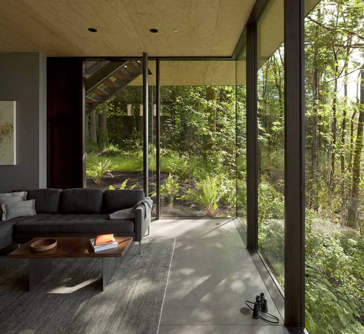 Living Room, Glass Walls, Vacation Home with Amazing Inlet Views in Washington