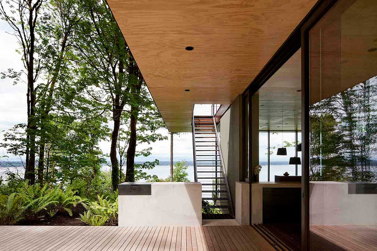 Stairs, Terrace, Patio Doors, Vacation Home With Amazing Inlet Views In  Washington
