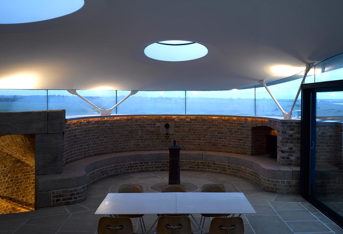 Dining Space, Defence Tower Conversion in Suffolk, England