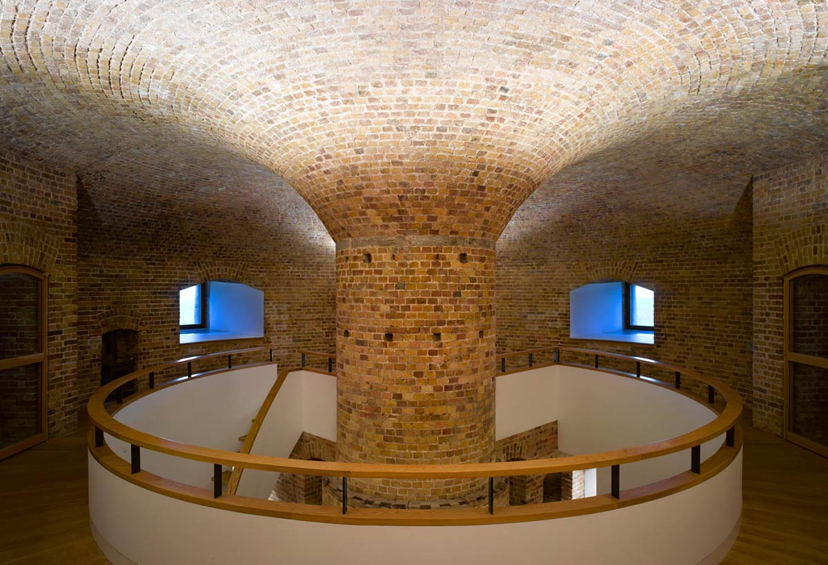 Hall, Stairs, Defence Tower Conversion in Suffolk, England