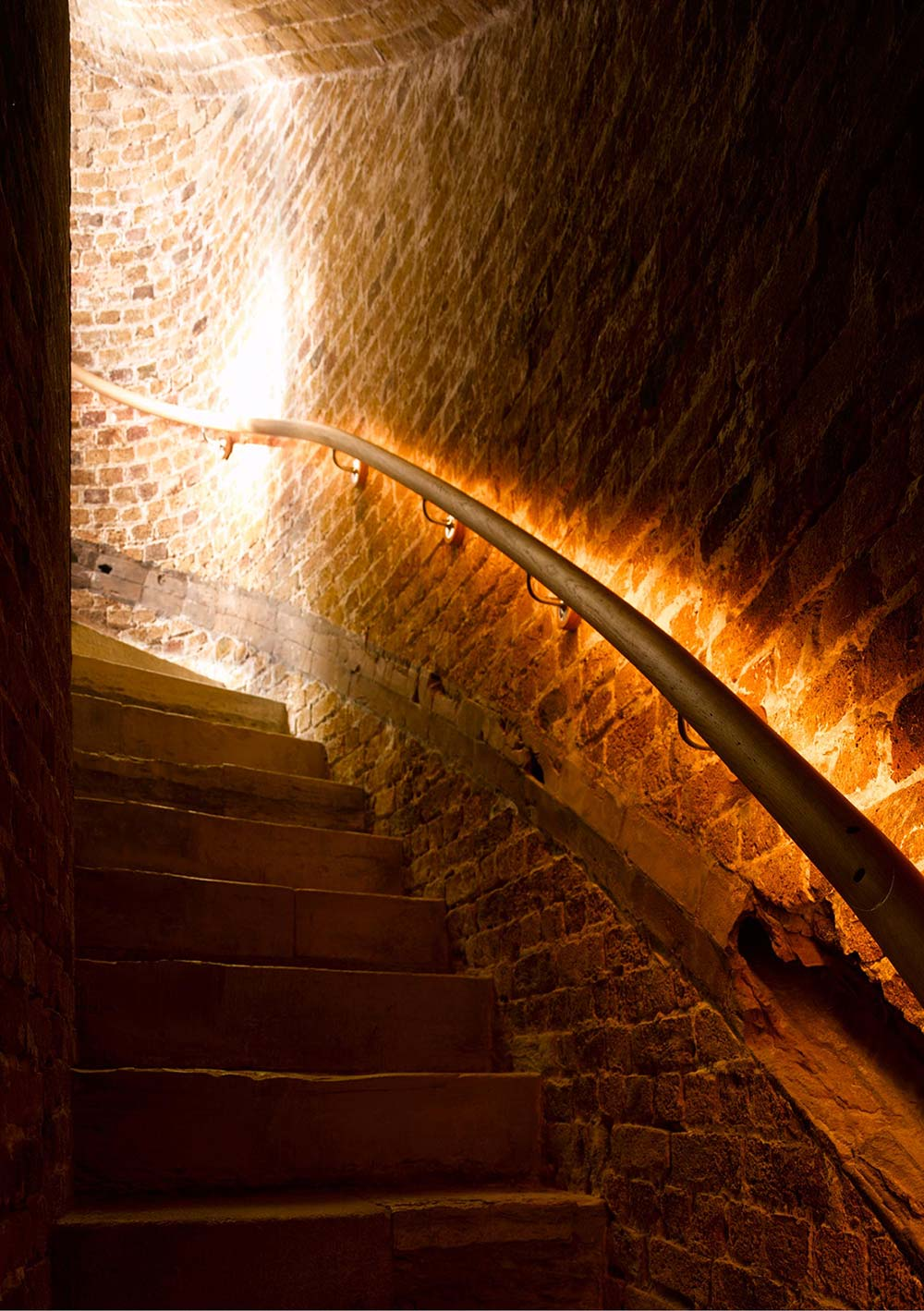 Stairs, Lighting, Defence Tower Conversion in Suffolk, England