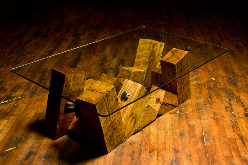 Derailment Coffee Table, Rail Yard Studios