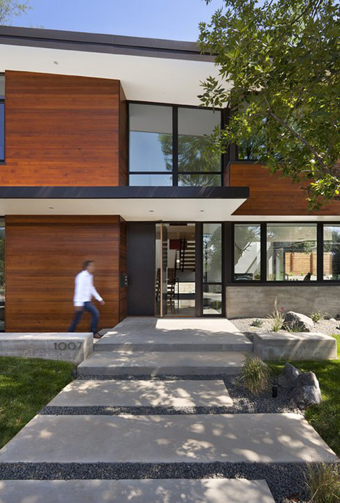 Entrance, Dihedral House, Boulder, Colorado