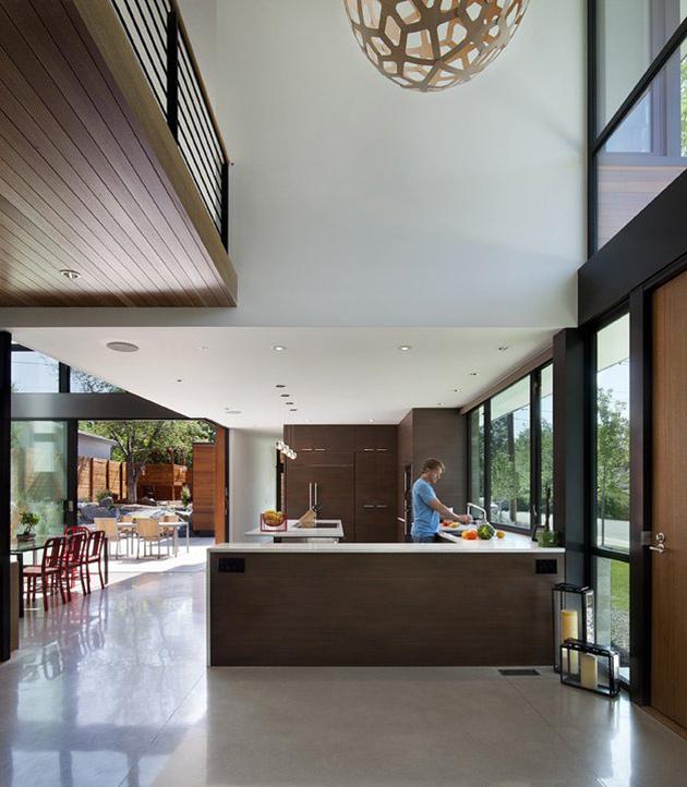Kitchen, Dihedral House, Boulder, Colorado