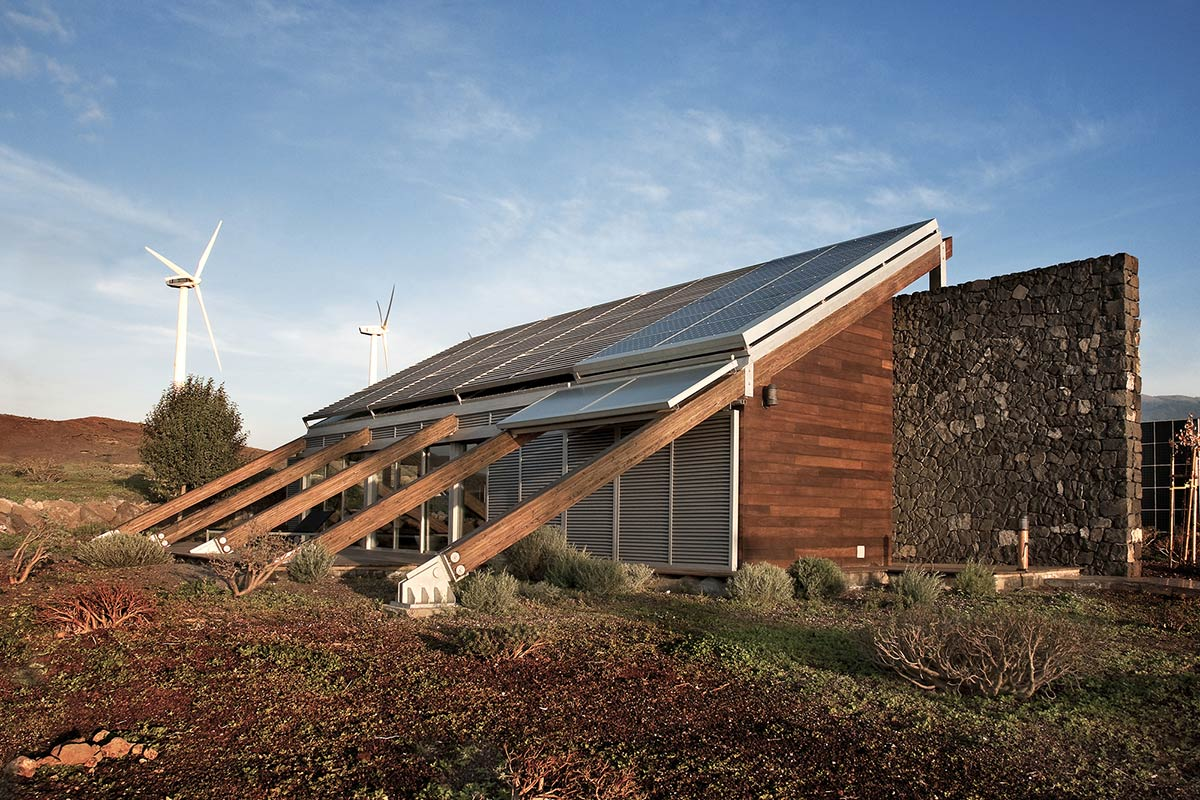 Wind Turbines, Experimental Bioclimatic House Tenerife