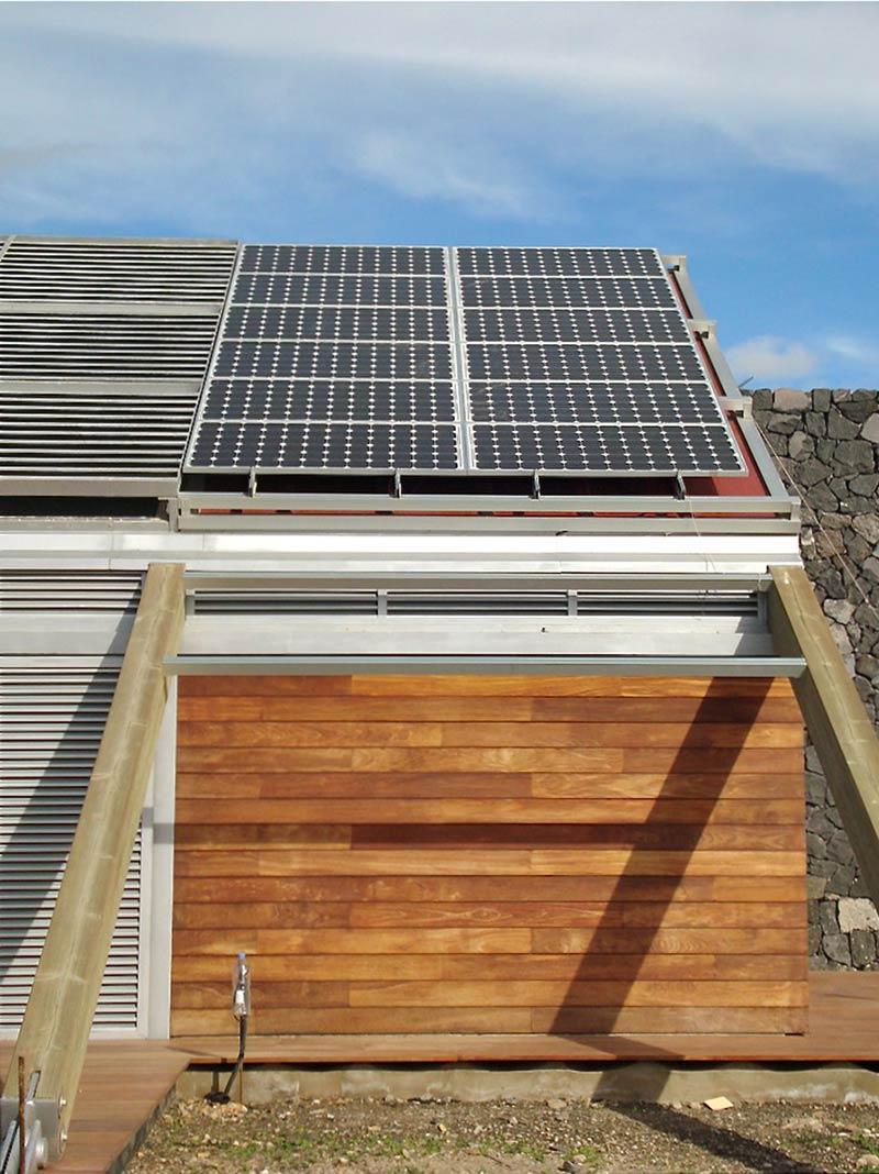 Solar Pannels, Experimental Bioclimatic House Tenerife