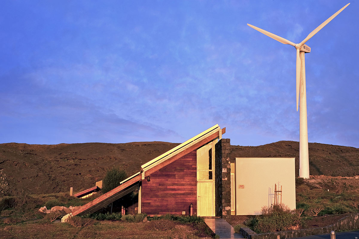Wind Turbine, Entrance, Experimental Bioclimatic House Tenerife