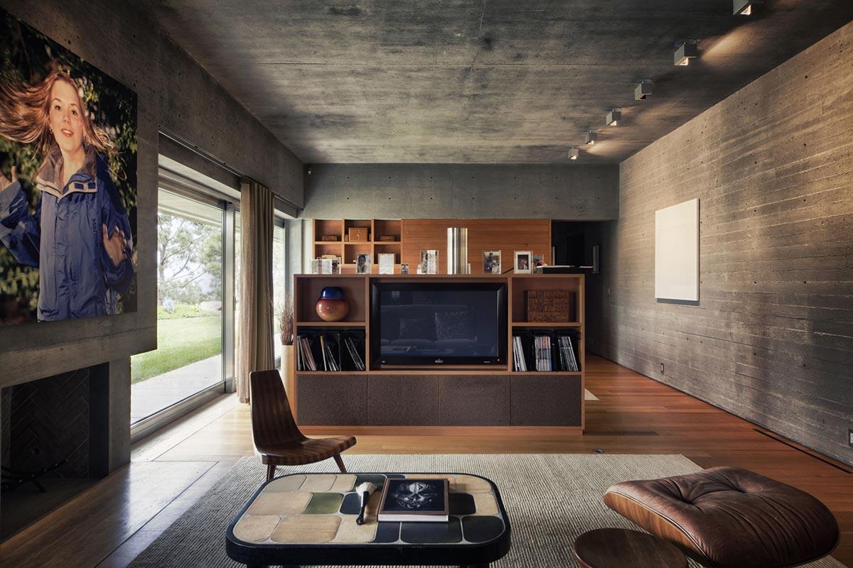 garage gym name ideas - Living Room Extraordinary Contemporary Home in California