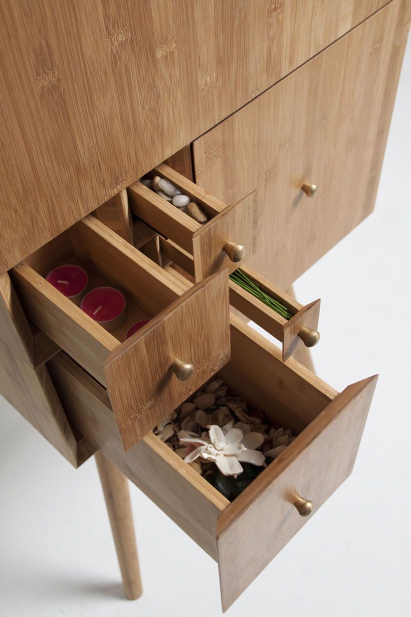 Curious Cabinet Inspired by the Fibonacci Sequence