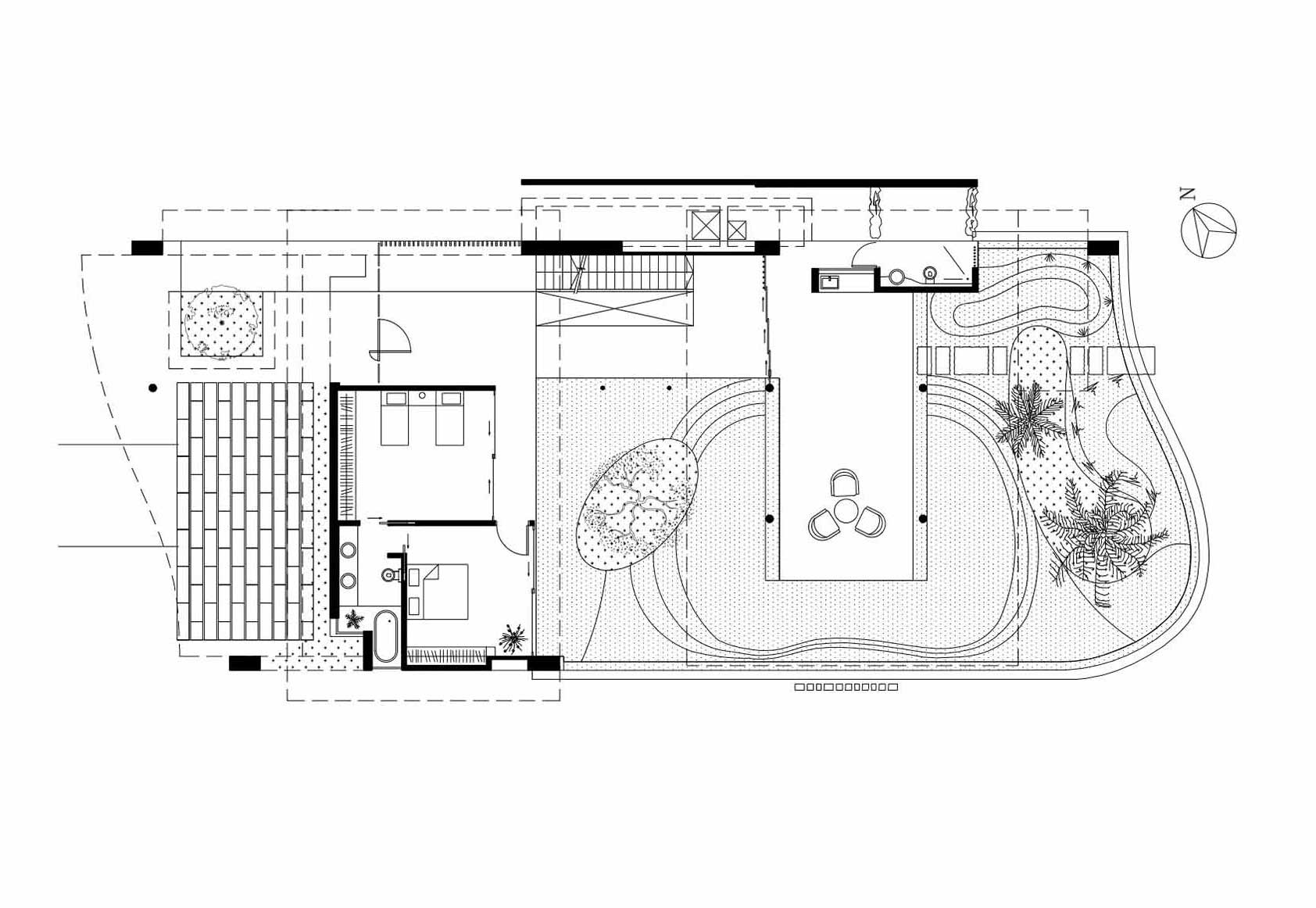 Floor plan stunning beachfront home with under pool media Pool house floor plans free