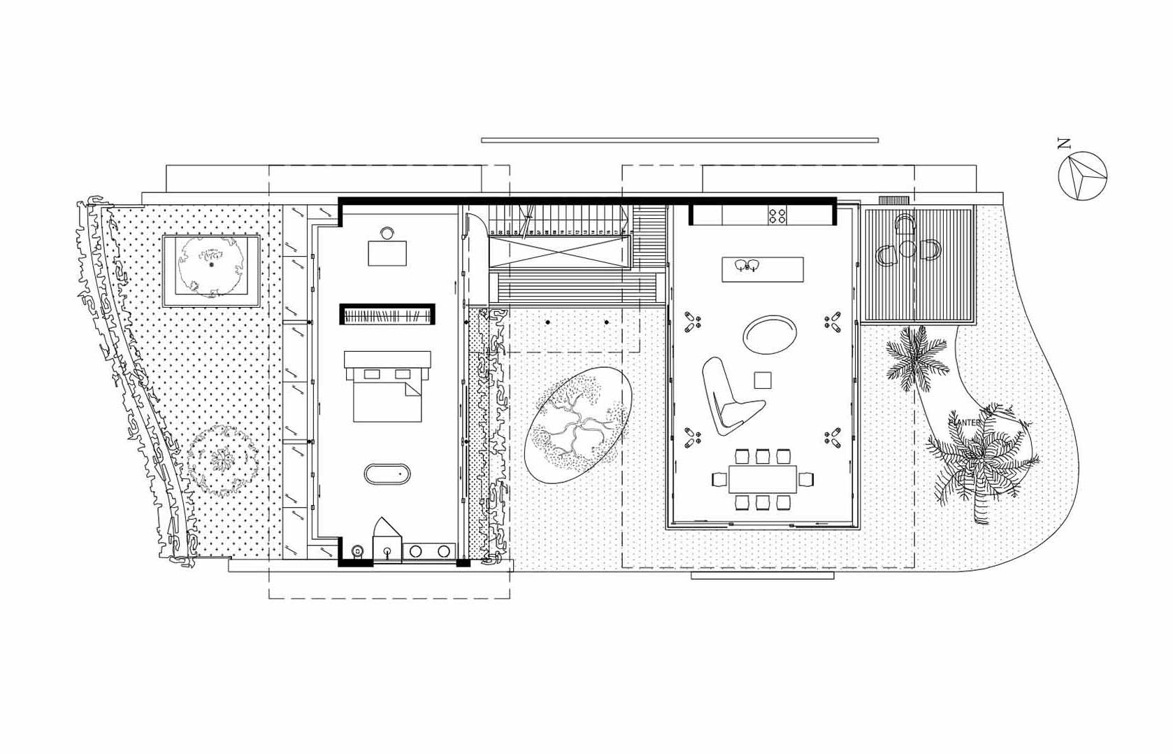 Ground Floor Plan, Stunning Beachfront Home with Under-Pool Media Room