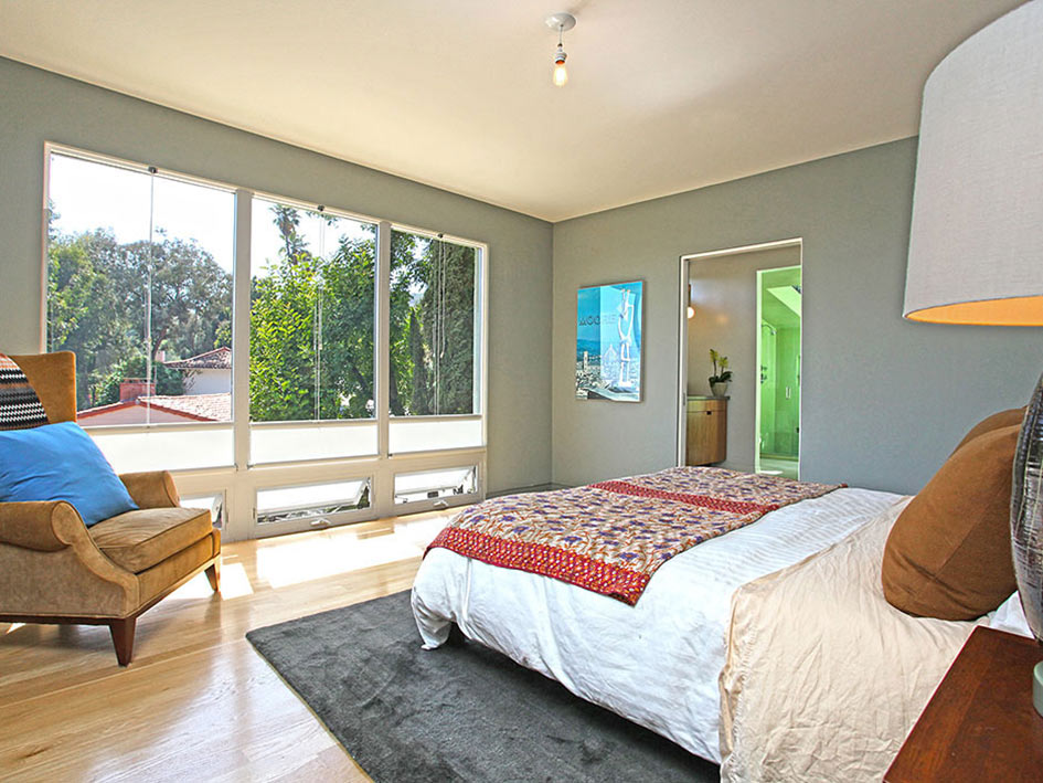 Bedroom, Hollywood Hills Home Formerly Owned by Hal Levitt