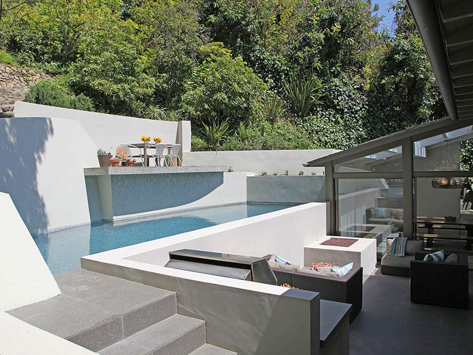 Compact Pool, Outdoor Space, Hollywood Hills Home Formerly Owned by Hal Levitt