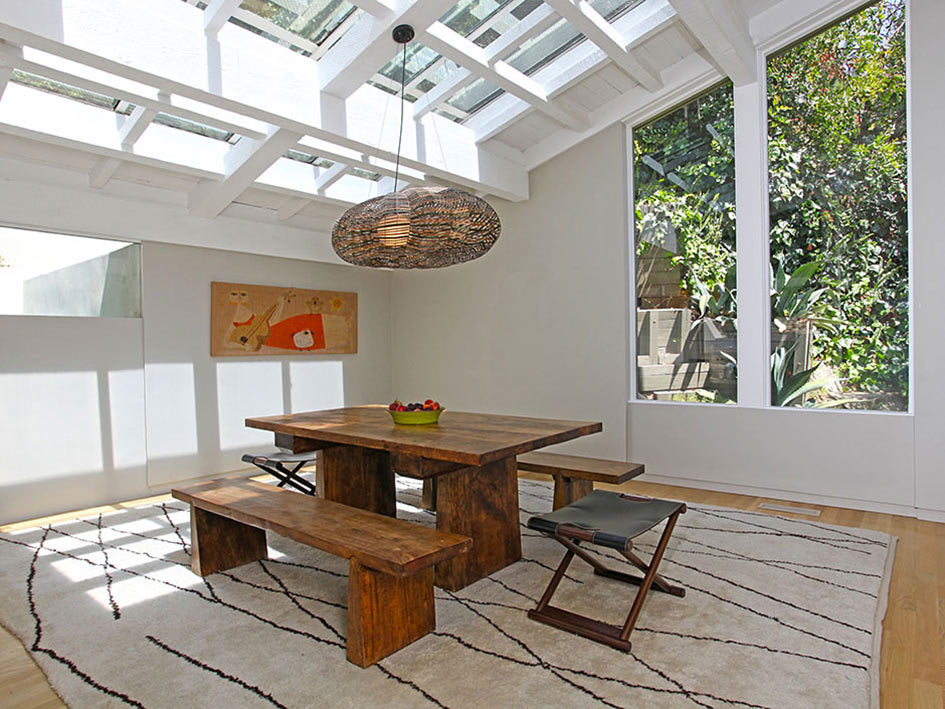 Dining Space, Hollywood Hills Home Formerly Owned by Hal Levitt