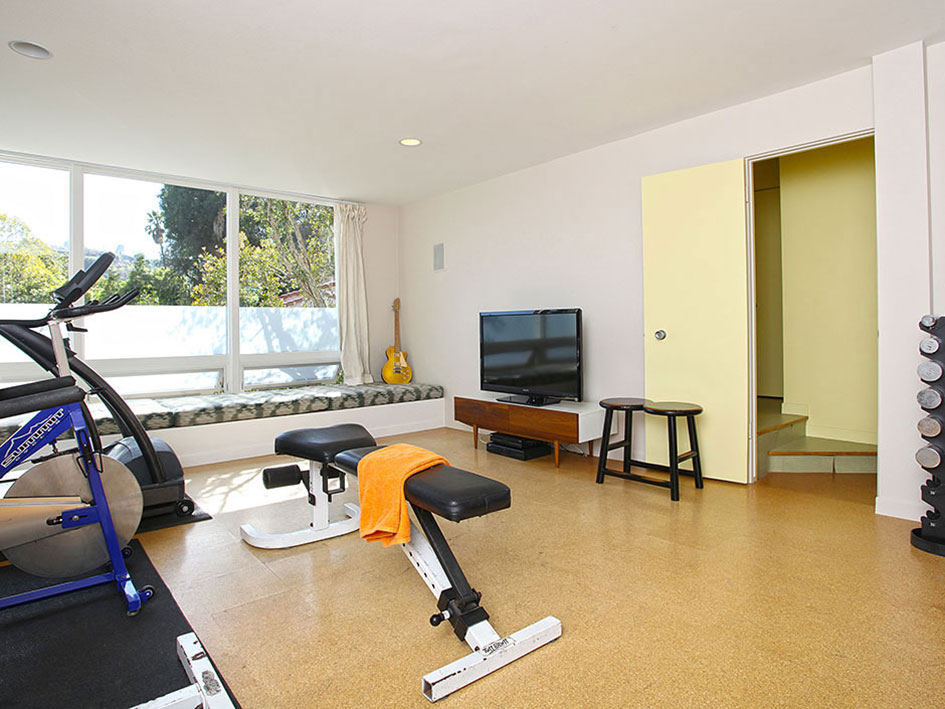 Exercise Room, Hollywood Hills Home Formerly Owned by Hal Levitt