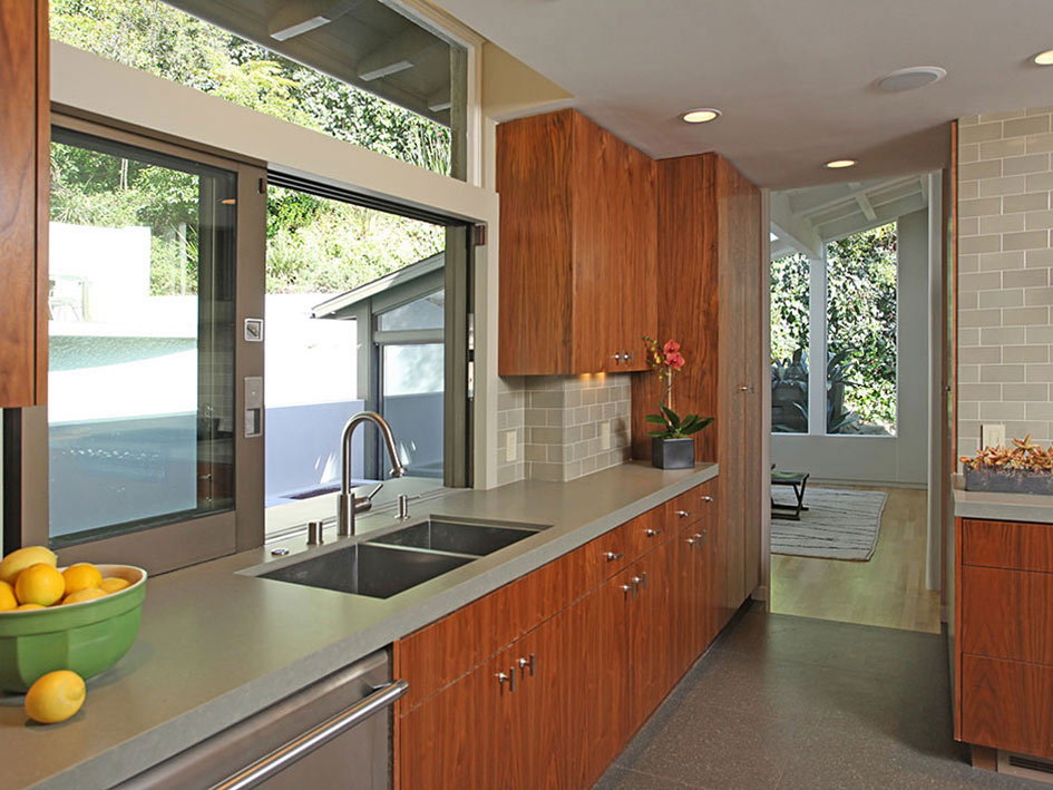 Kitchen, Hollywood Hills Home Formerly Owned by Hal Levitt
