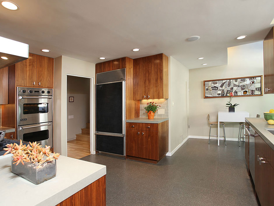 Kitchen, Breakfast Table, Hollywood Hills Home Formerly Owned by Hal Levitt