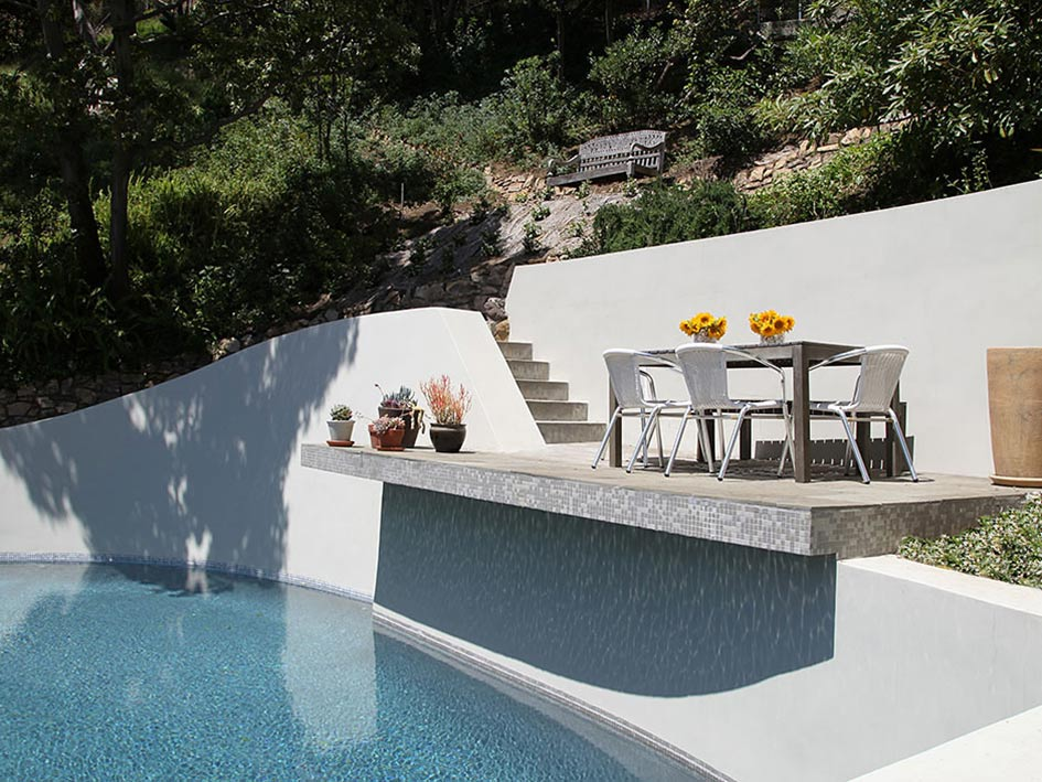 Pool, Balcony, Hollywood Hills Home Formerly Owned by Hal Levitt