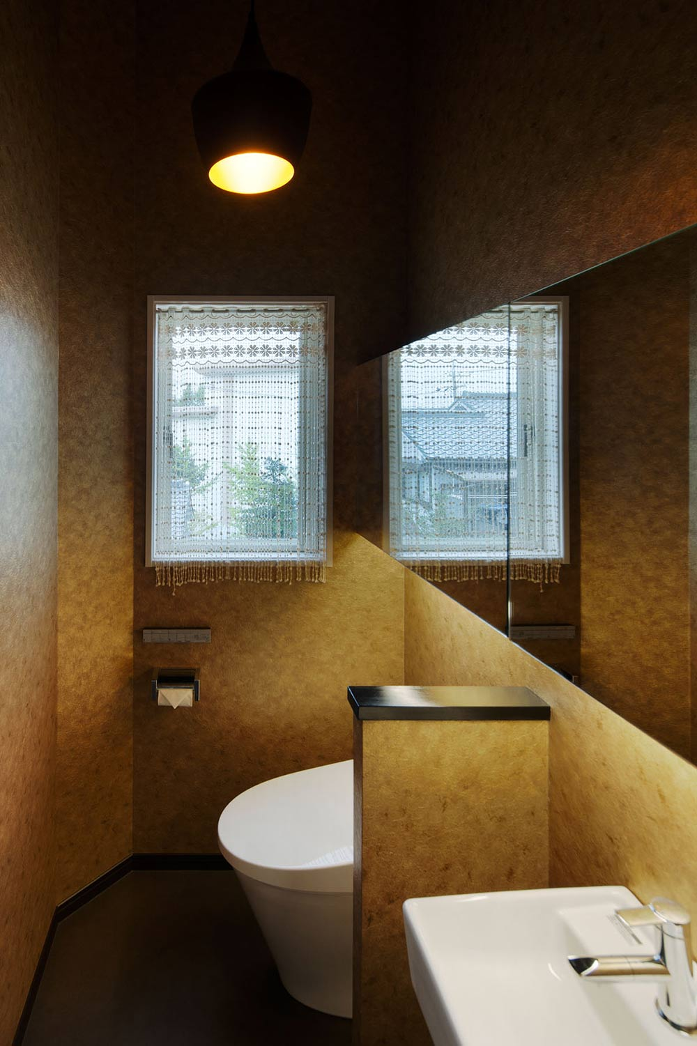 Bathroom, Hansha Reflection House, Nagoya, Japan