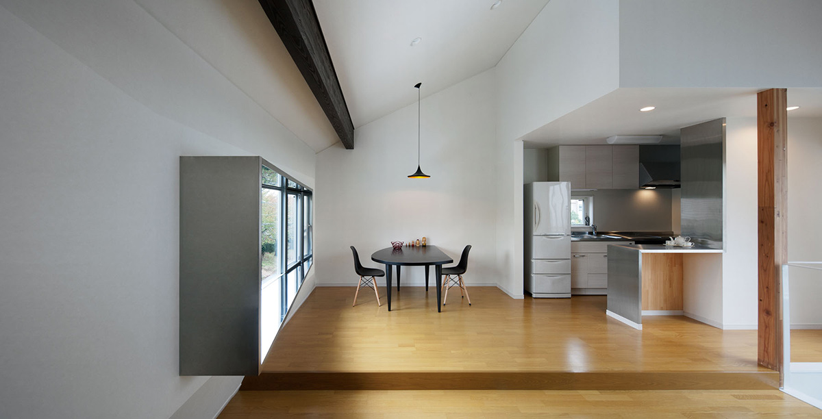 Dining Space, Kitchen, Hansha Reflection House, Nagoya, Japan