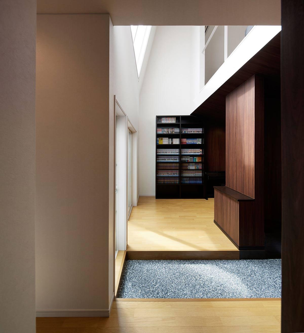 Hall, Hansha Reflection House, Nagoya, Japan