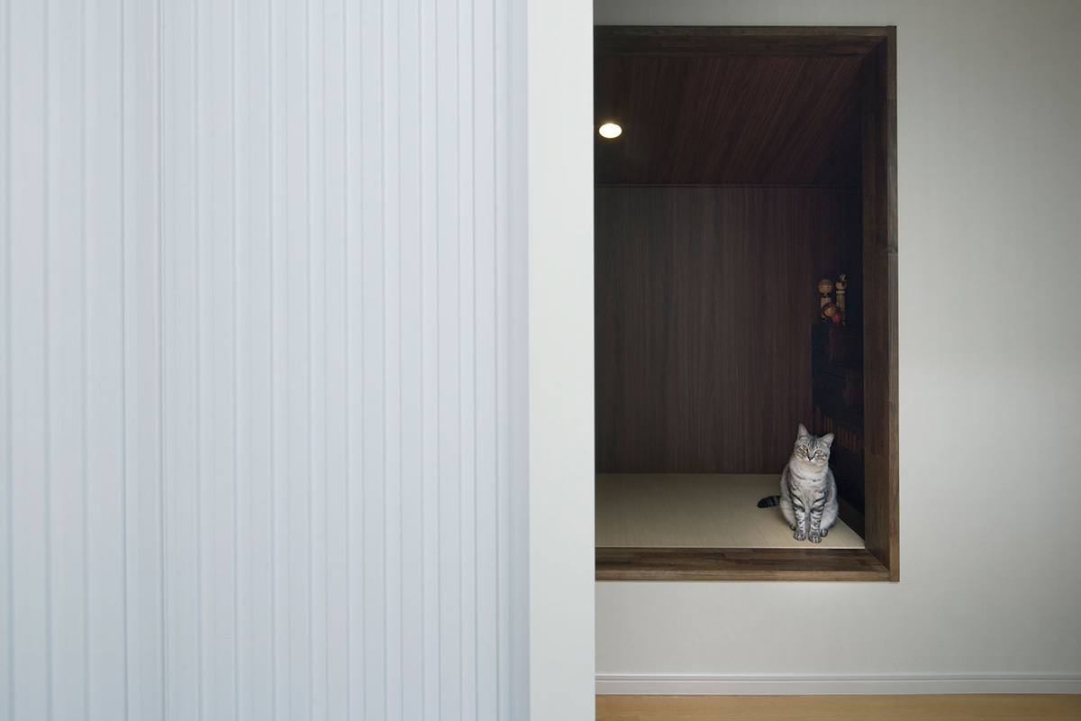 Hall, Hansha Reflection House, Nagoya, Japan