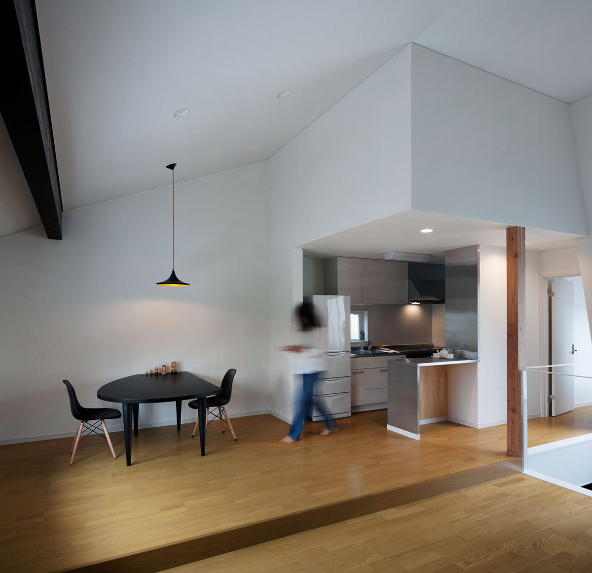 Kitchen, Dining, Hansha Reflection House, Nagoya, Japan