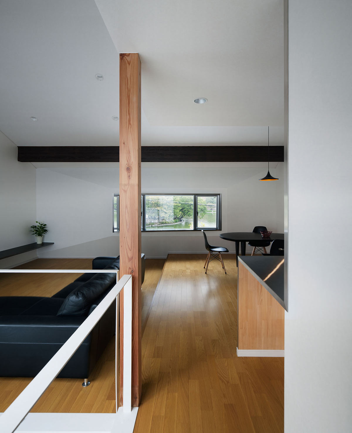 Living, Dining, Open Plan, Hansha Reflection House, Nagoya, Japan