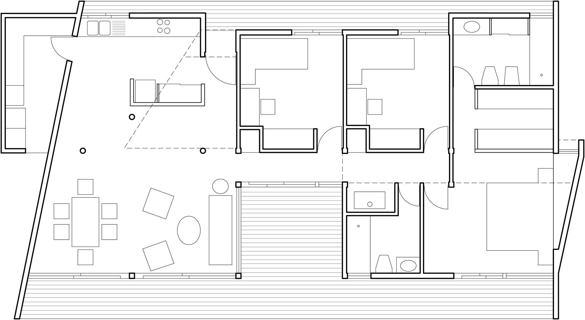 Floor Plan, Home in Chile with Japanese Influences