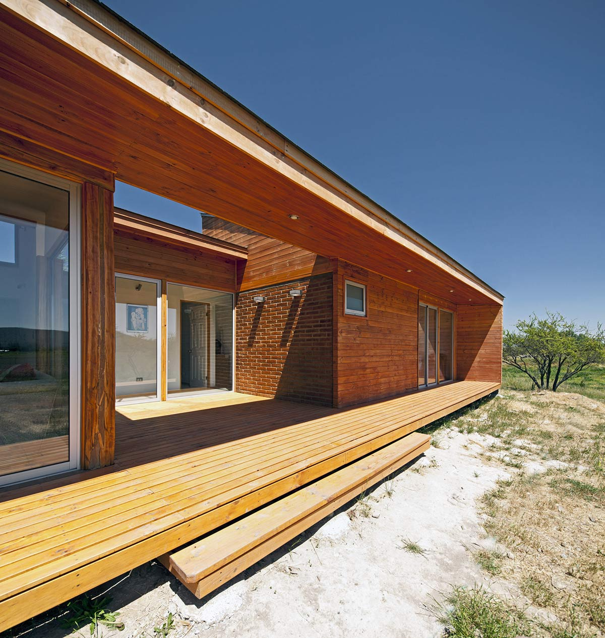 Patio Doors, Deck, Home in Chile with Japanese Influences