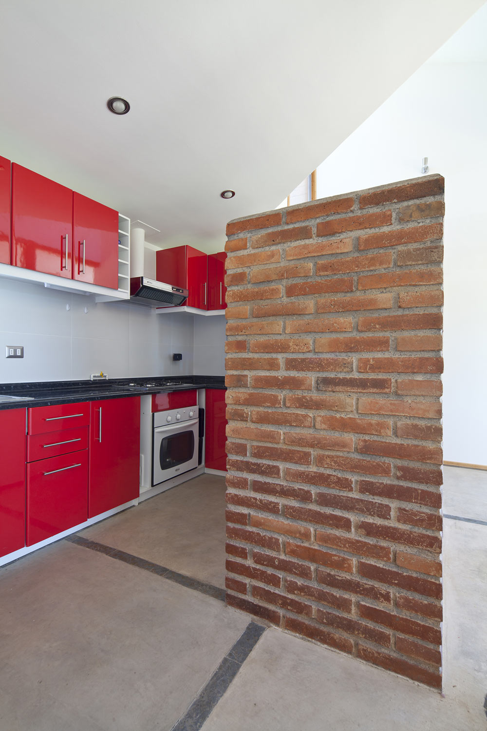 Red Kitchen, Home in Chile with Japanese Influences