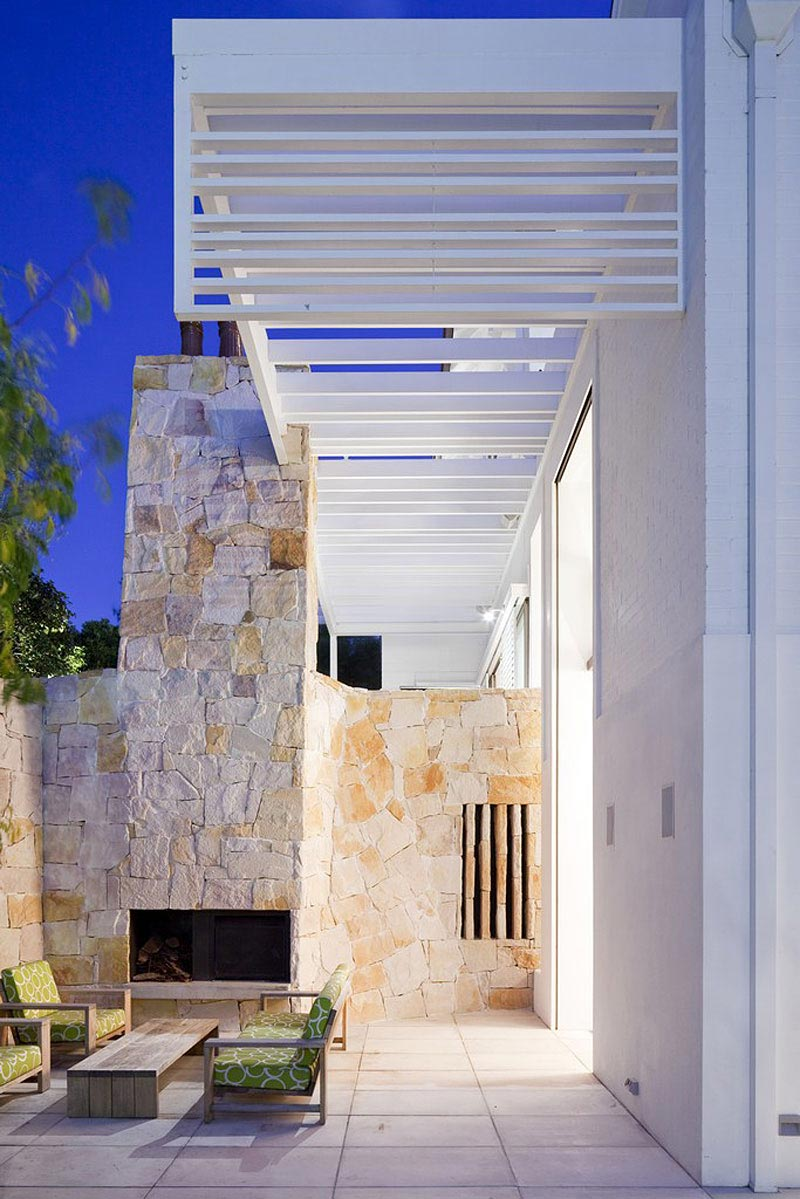 Outdoor Fireplace, Terrace, Family Home Renovation Bellevue Hill, Sydney
