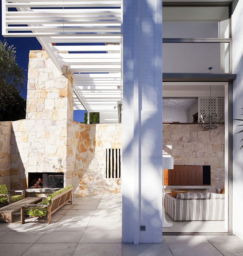 Outdoor Fireplace, Family Home Renovation Bellevue Hill, Sydney