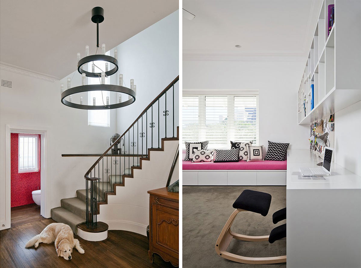 Staircase, Bedroom, Family Home Renovation Bellevue Hill, Sydney