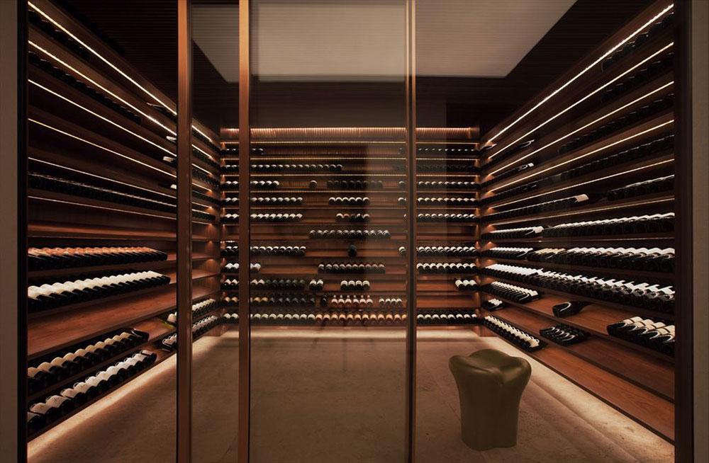 Wine Room, Concrete House in São Paulo, Brazil