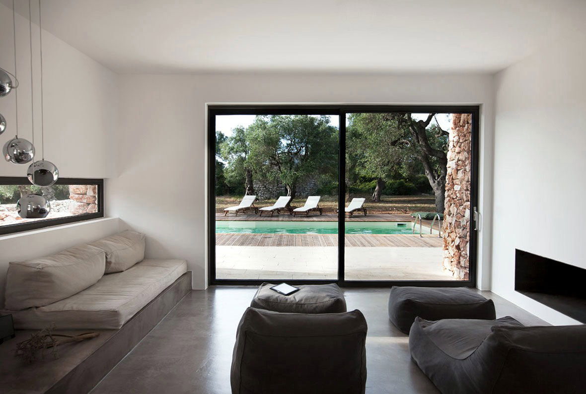 Living Space, Italian Stone House Surrounded by Beautiful Olive Trees