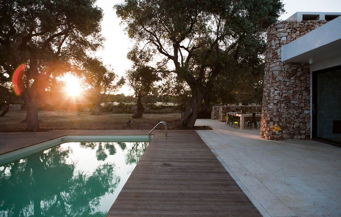 Pool Terrace, Italian Stone House Surrounded by Beautiful Olive Trees