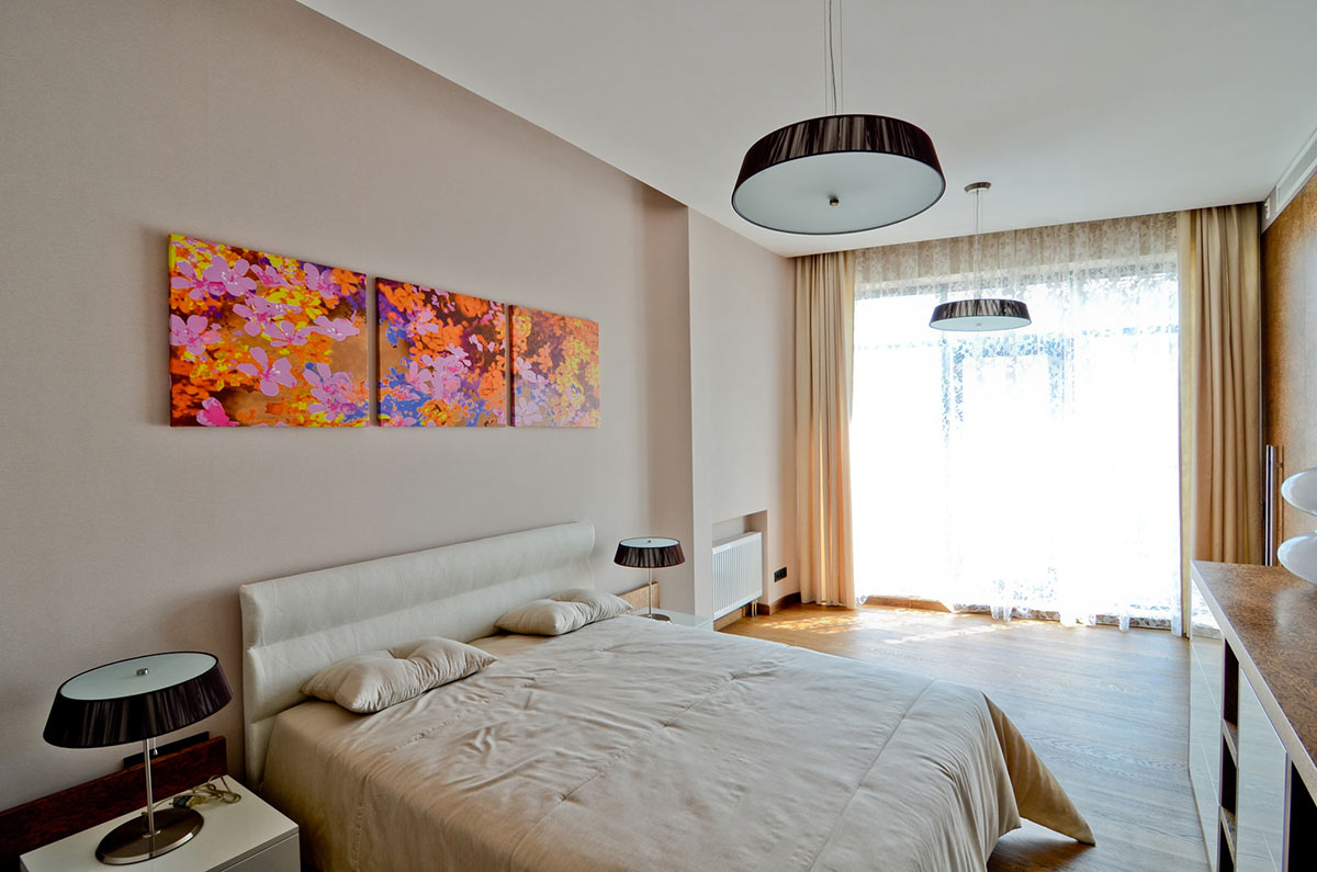 Bedroom, Large Family Residence in Kiev, Ukraine