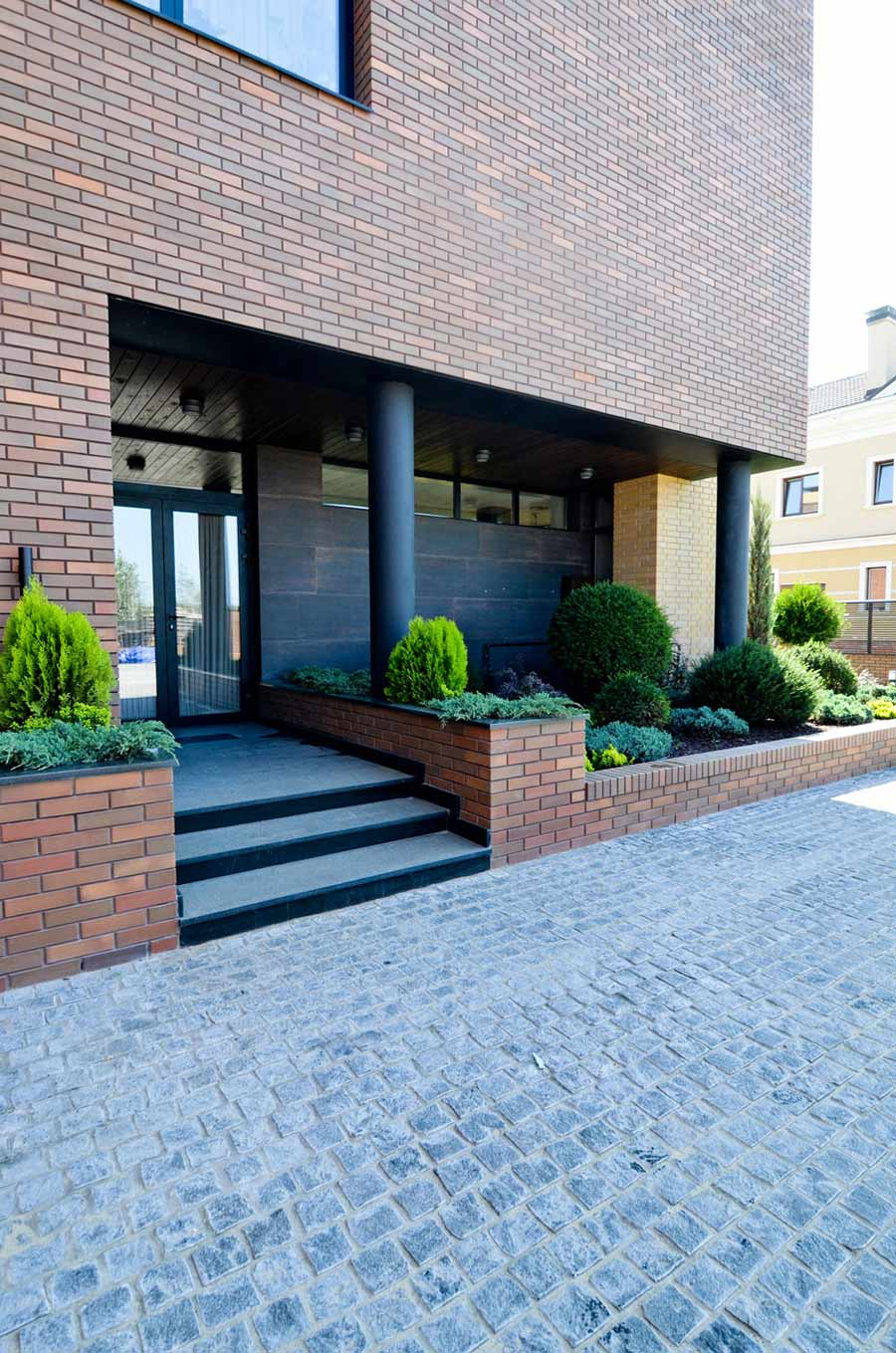 Entrance, Front Door, Large Family Residence in Kiev, Ukraine