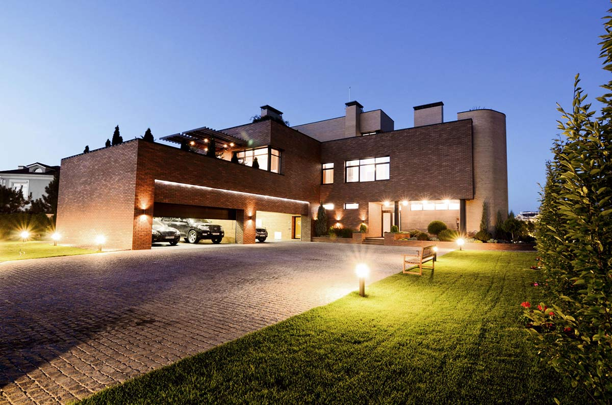 Lighting, Driveway, Large Family Residence in Kiev, Ukraine