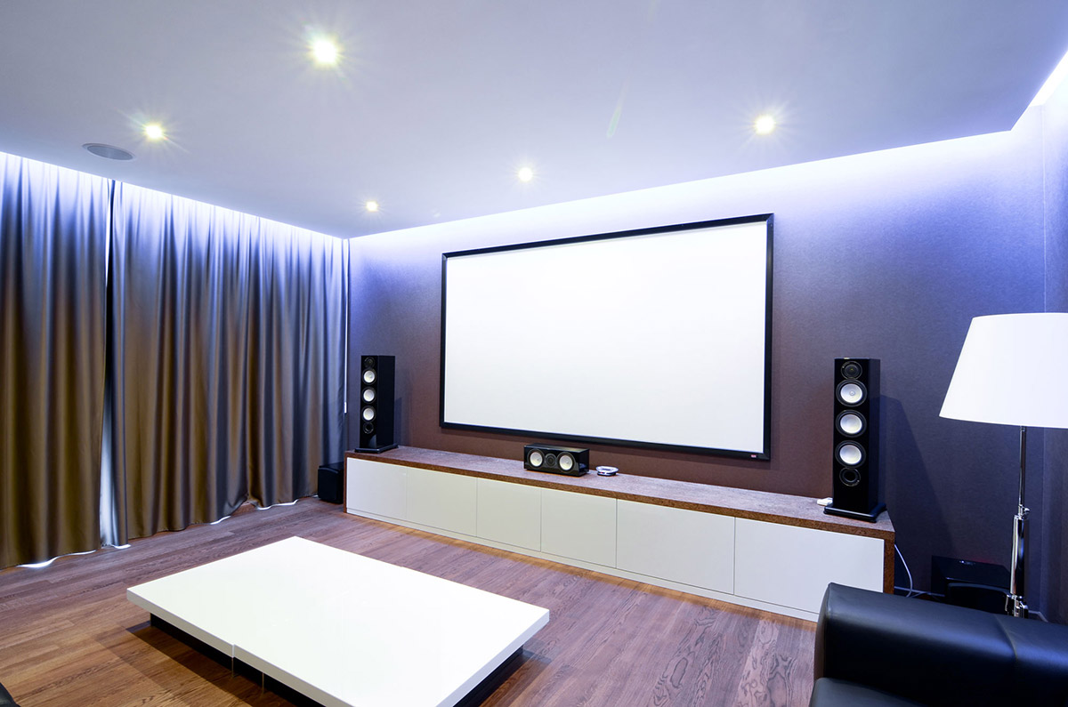 Home cinema media room large family residence in kiev for What is a media room