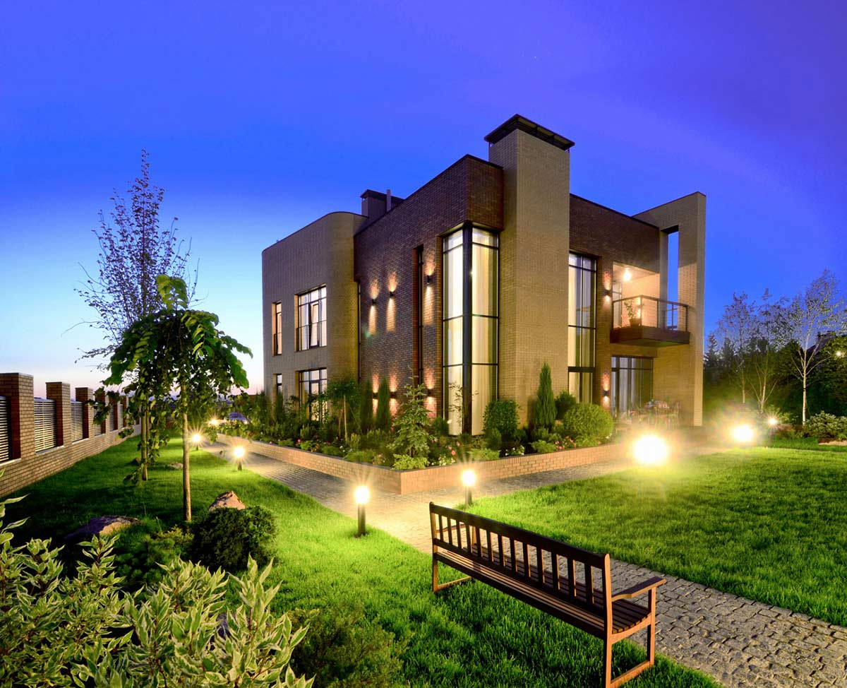 Lighting, Garden, Large Family Residence in Kiev, Ukraine