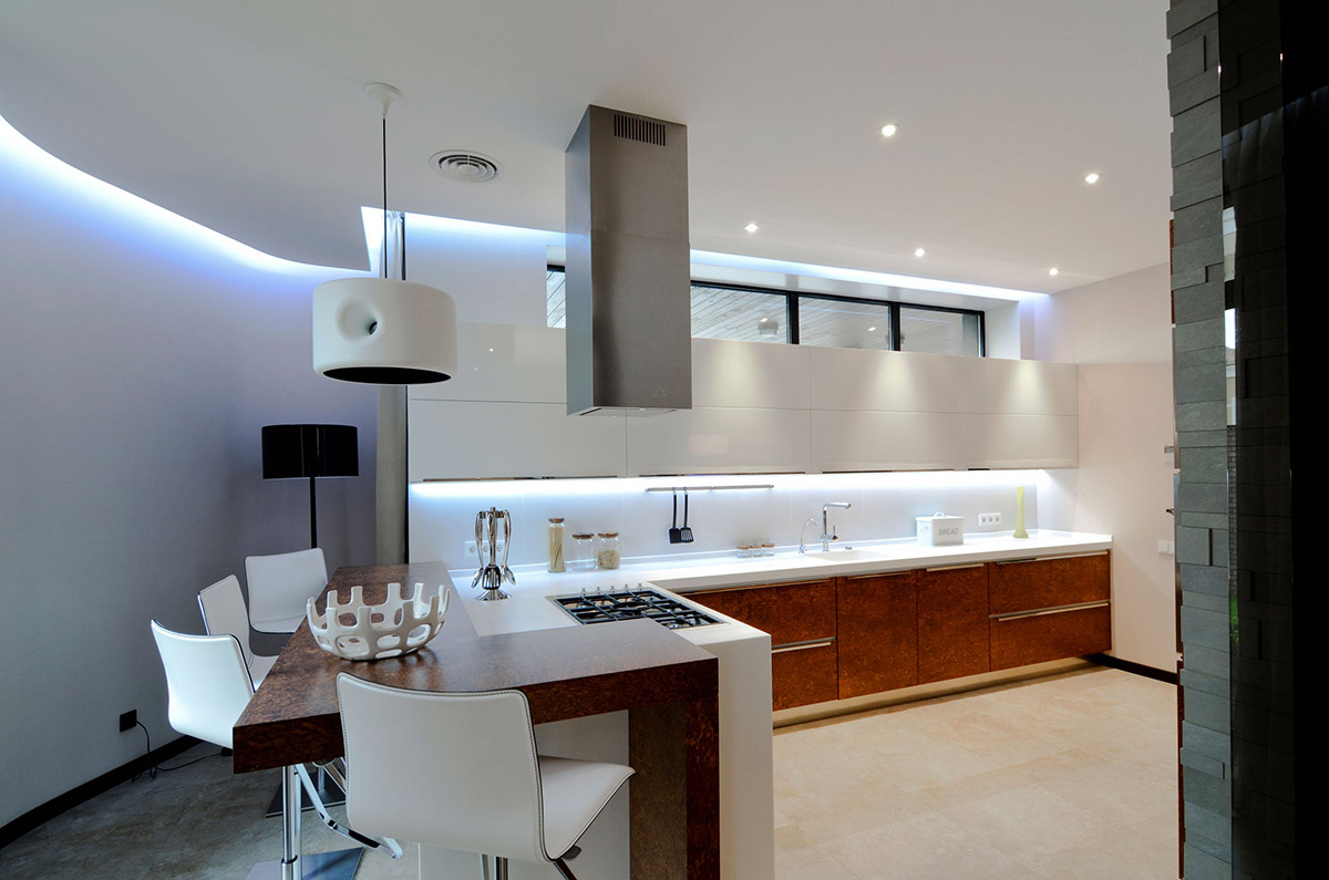 Kitchen Breakfast Bar Large Family Residence In Kiev