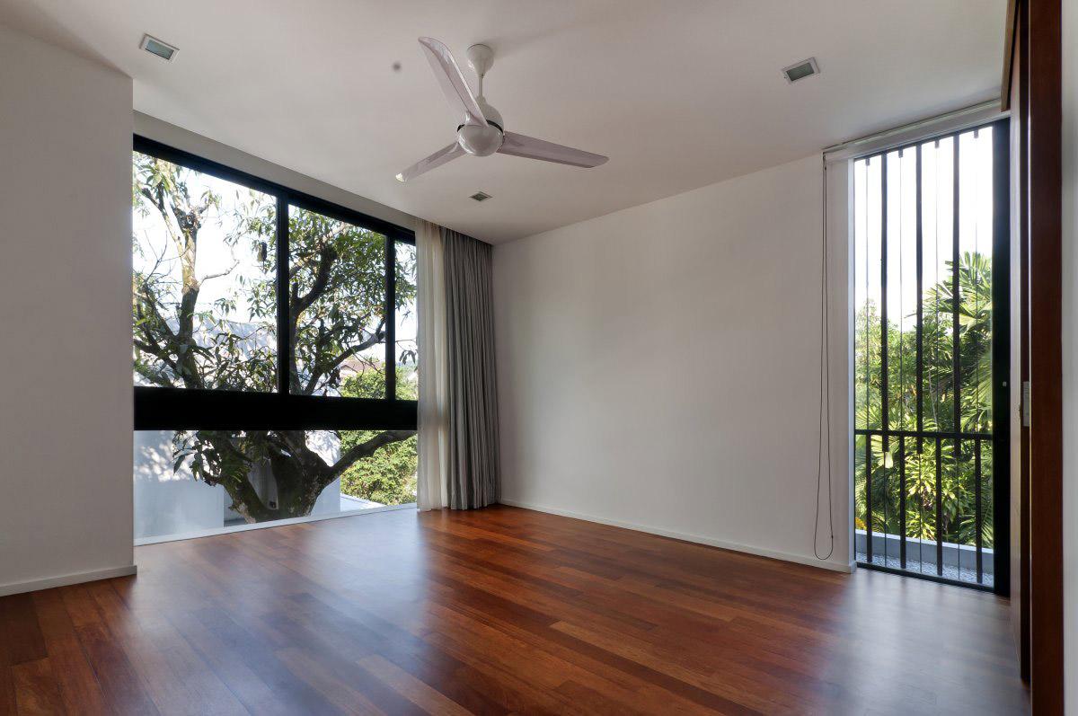 Bedroom, Wood Flooring, Modern Home in Kuala Lumpur