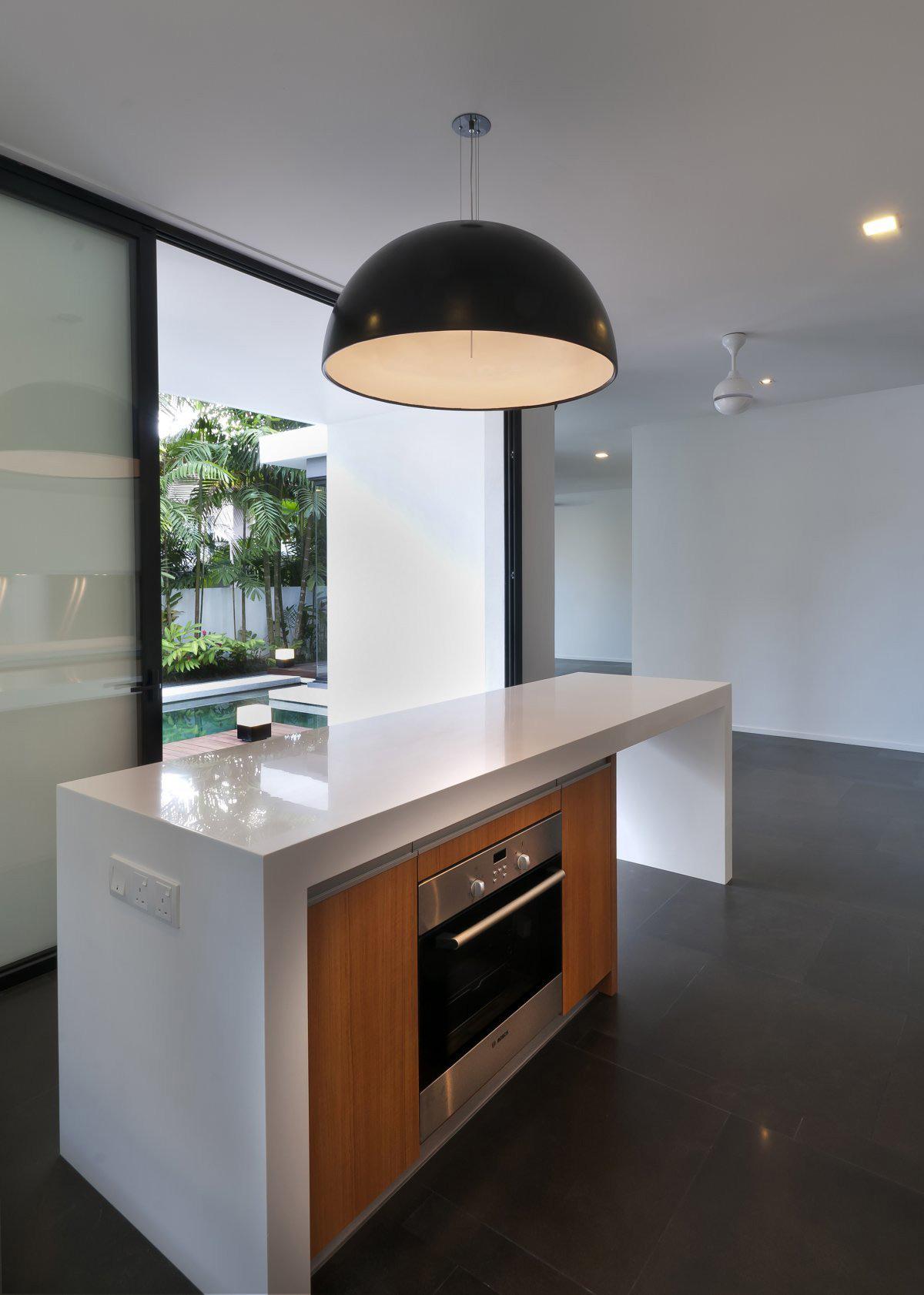 Kitchen, Modern Island, Lighting, Modern Home in Kuala Lumpur