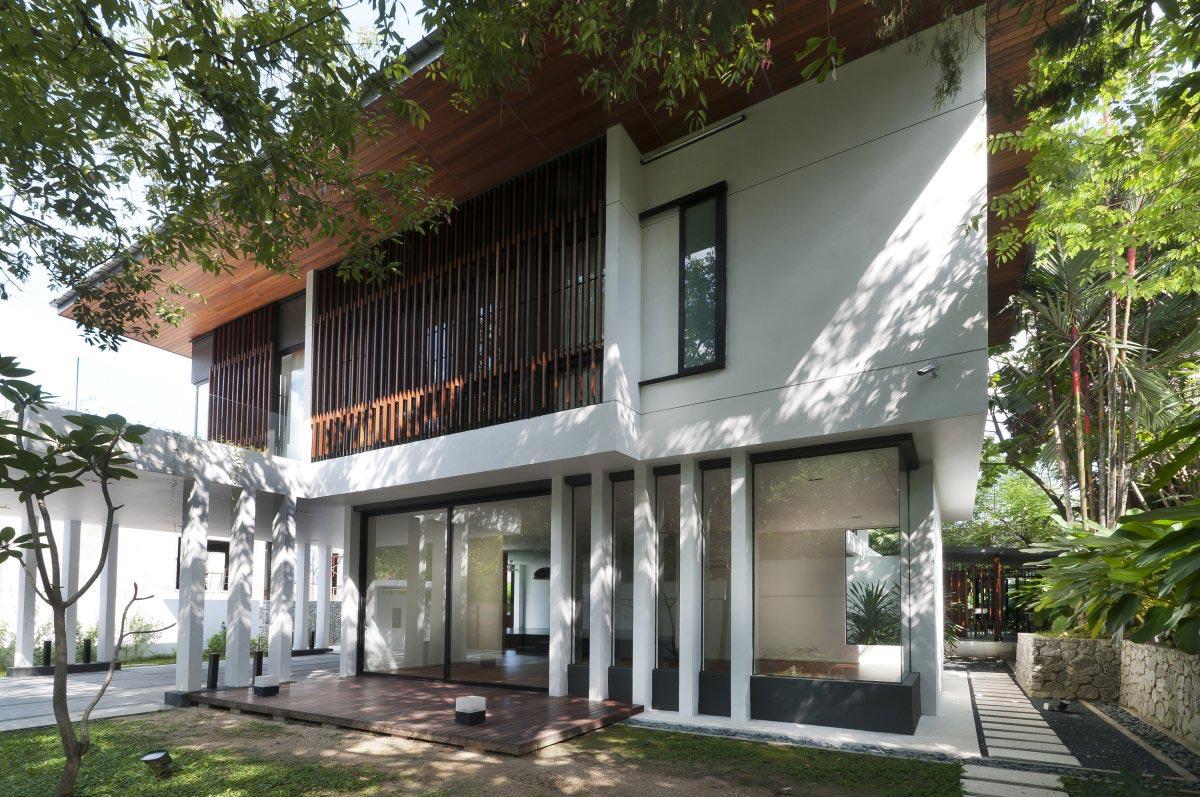 Patio Doors Terrace Modern Home In Kuala Lumpur