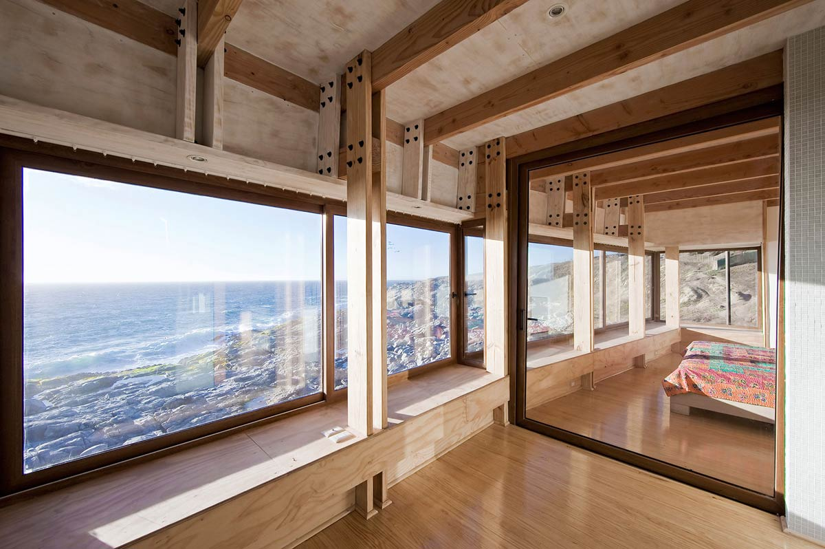Bedroom, Large Mirror, Beachfront Home in Chile