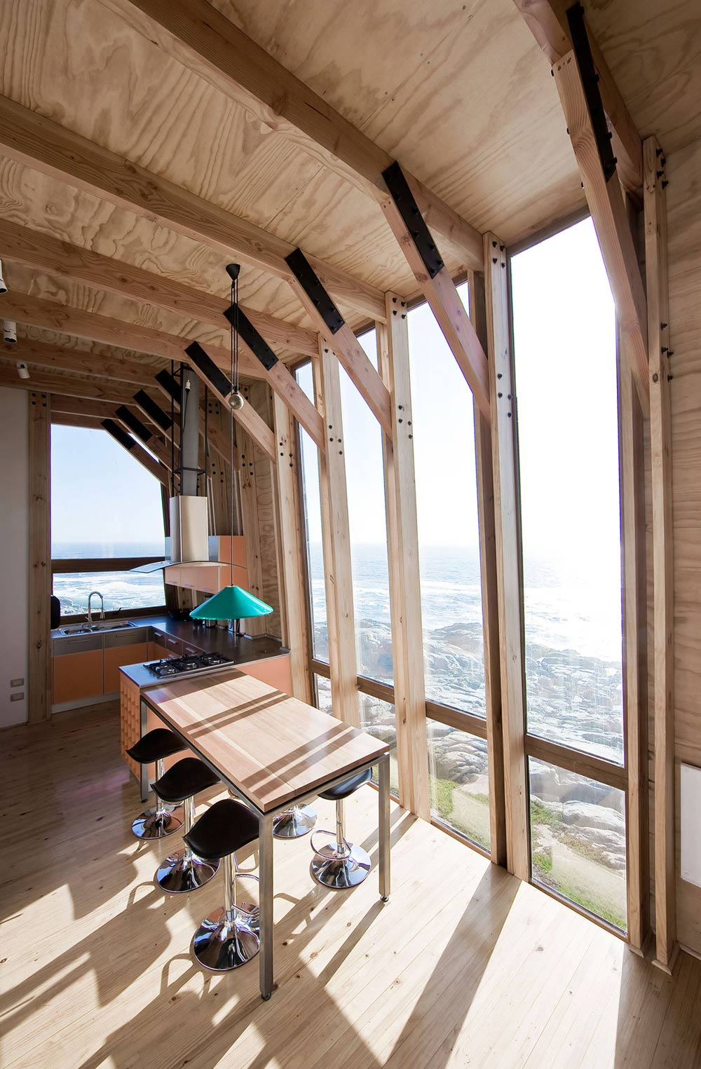 Compact Kitchen & Dining, Views, Beachfront Home in Chile