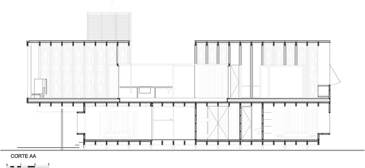 Section, Beachfront Home in Chile